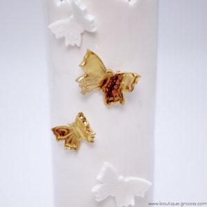 gnooss-boutique-Fabrique d Art-Photophore-Vase porcelaine Fin#Papillon dore-2-GN_666844045_new