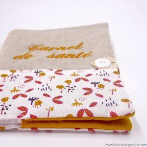 gnooss-boutique-Liberty Brod-Carnet de santé Liberty-Moutarde et Fleurs-2-GN_569543827_new