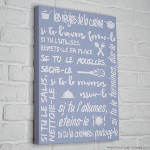 gnooss-boutique-Mome by Printline-Tableau-Regles cuisine-bleu-2-GN_119944536_new