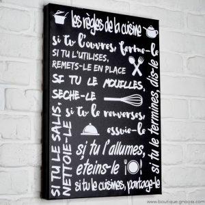 gnooss-boutique-Mome by Printline-Tableau-Regles cuisine-noir-2-GN_357174533_new