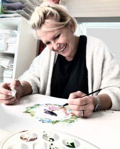 Boutique Gnooss Décoration Alsace Créateurs aquarelles Krolgribouille portrait