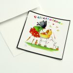 Boutique Gnooss Décoration Alsace Créateurs aquarelles Krolgribouille carte naissance carrée