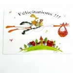 Boutique Gnooss Décoration Alsace Créateurs aquarelles Krolgribouille carte naissance